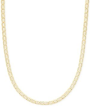 """Italian Gold 22"""" Marine Link Chain Necklace (4-1/10mm) in 14k Gold"""