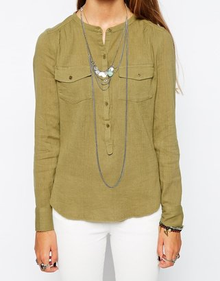 Zadig & Voltaire Cheesecloth Tunic Top