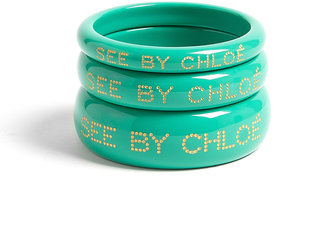 See by Chloe Acrylic Embossed Bangles