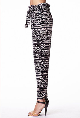 Forever 21 Tribal Print Satin Trousers