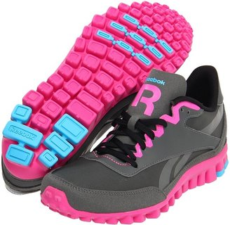 Reebok Aztec Flex Racer (Rivet Grey/Dynamic Pink/Black/Buzz Blue) - Footwear