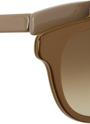Marni Round-frame hinged acetate sunglasses