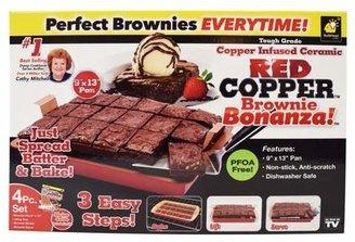 As Seen On TV Red Copper Brownie Bonanza Cake Pan