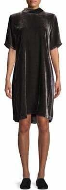 Eileen Fisher Self-Tie Velvet Shift Dress