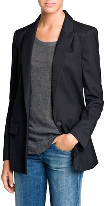 MANGO Outlet Textured Suit Blazer