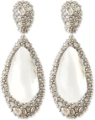 Alexis Bittar Medium Crystal-Encrusted Clear Lucite Clip Earrings