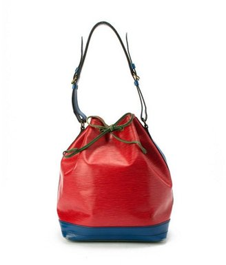 Louis Vuitton Pre-Owned: red and blue epi leather 'Noe' drawstring bag