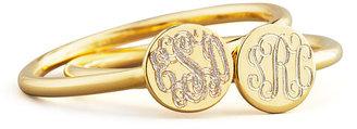 Sarah Chloe Gold Rocha Round Engravable Ring
