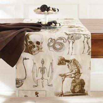 Williams-Sonoma Halloween Skellie Toile Table Runner