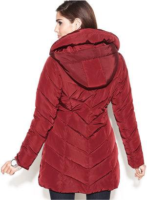 Steve Madden Pillow-Collar Quilted Puffer Coat