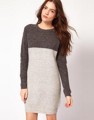 Vila Color Block Knitted Dress