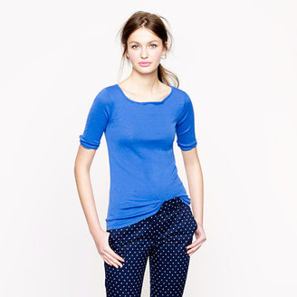 J.Crew Perfect-fit boatneck button tee