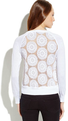 Charlotte Tarantola White Floral Embroidered Cardigan