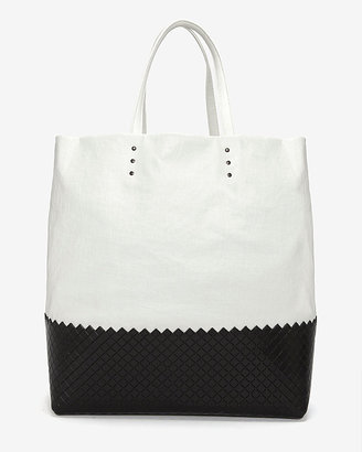 Bottega Veneta Coated Canvas And Leather Tote