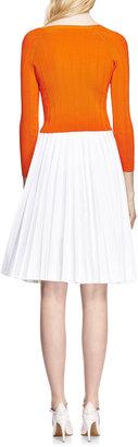 J.W.Anderson Pleated Denim A-Line Skirt