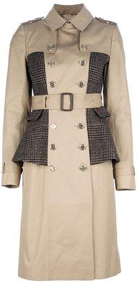 Burberry double breasted peplum coat