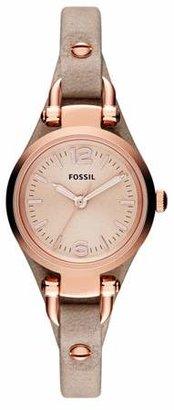 Fossil Georgia Mini Sand Leather Watch