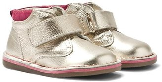 Mayoral Gold Leather Hi-Top Velcro Boots