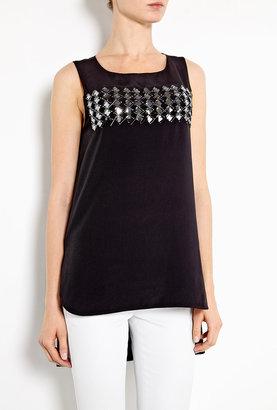Sportmax Black Uta Embellished Top