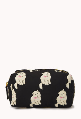 Forever 21 Cat Print Cosmetic Pouch