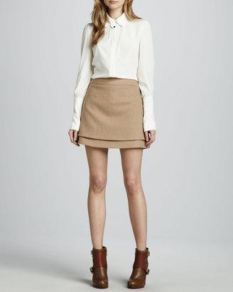 Rachel Zoe Venice Layered Miniskirt
