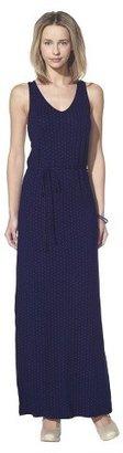 Merona Petites Sleeveless Maxi Dress - Navy Print