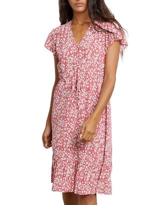 Rails Kiki Floral Ruffle-Hem Button-Down Dress