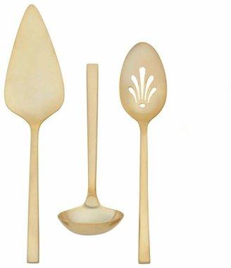Wedgwood Polished Gold 3-Piece Serving Set
