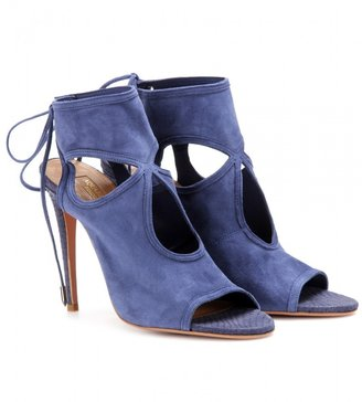 Aquazzura Sexy Thing suede and snakeskin sandals