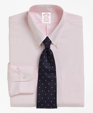 Brooks Brothers Traditional Relaxed-Fit Dress Shirt, Button-Down Collar