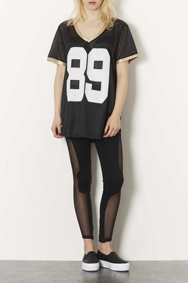 Topshop 89 Mesh Tee By Project Social
