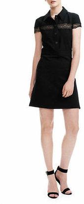 Maje Riloi Slim Fit Collared Mini Dress