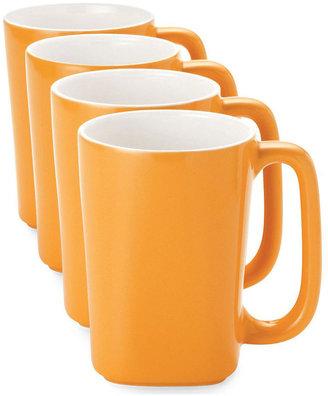 Rachael Ray Round & Square Set of 4 Mugs