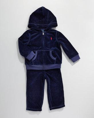 Ralph Lauren Velour Track Suit, 3-9 Months