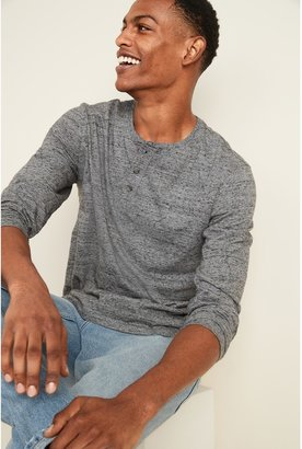 Old Navy Soft-Washed Long-Sleeve Henley Tee for Men