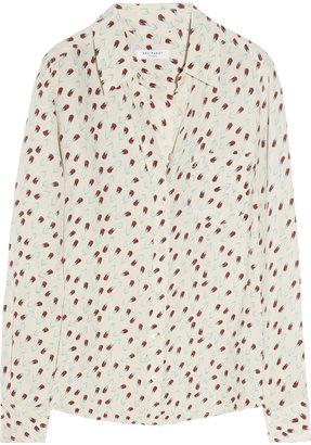 Equipment Brett floral-print silk shirt