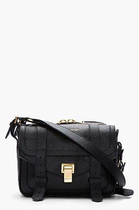 Proenza Schouler Black & Navy Leather Double PS1 Shoulder Bag
