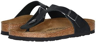 Birkenstock Gizeh Oiled Leather (Black Oiled Leather) Women's Sandals