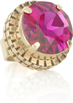 Mawi Gold-plated Swarovski crystal ring