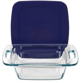 Pyrex 8-in. Easy Grab Baking Dish with Blue Cover, Blue