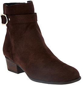 Liz Claiborne New York Ankle Boots with Horsebit Detail $49.32 thestylecure.com
