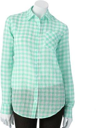 Lauren Conrad gingham shirt - women's