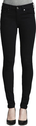 7 For All Mankind Second Skin Slim Illusion Skinny Jeans Black