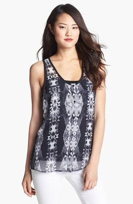 Kenneth Cole New York 'Maddy' Print Tank Black Combo X-Small