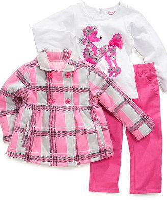 Nannette Kids Set, Little Girls 3-Piece Shirt, Jacket and Pants