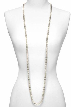 """Majorica Women's 8mm Round White Simulated Pearl Endless Necklace, 60"""""""