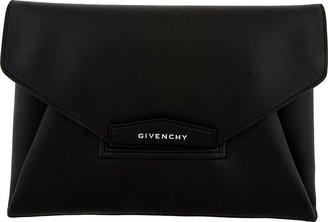 Givenchy Black Antigona Evening Sugar Large Envelope Clutch