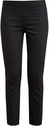The Row Cropped Stretch-cotton Trousers