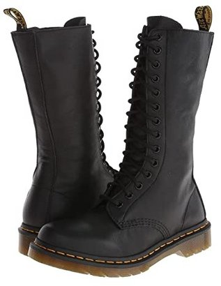 Dr. Martens 1B99 14-Eye Zip Boot (Black Virginia) Women's Zip Boots