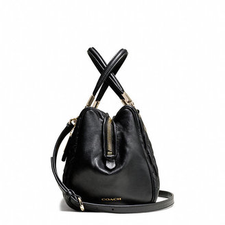 Coach Madison New Mini Satchel In Gathered Leather